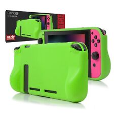 Orzly Comfort Grip Case for Nintendo Switch - GREEN