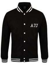Avenged Sevenfold Men's Death Bat Varsity A7X Jacket Black