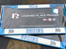 2 (TWO) UCLA BRUINS Blue Metal License Plate Frames w Nice Raised 3D Graphics