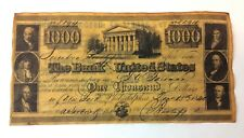 Reproduction Vintage $1000 Bill The Bank of the United States Limited Edition