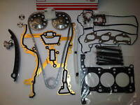 VAUXHALL CORSA C 1.0 Z10XE NEW HEAD GASKET SET + HEAD BOLTS + TIMING CHAIN KIT
