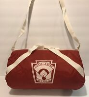 NOS Rare Vintage Little League Baseball Pin Bag LLWS Mini Roll Duffle 8x15 Inch