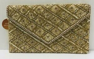 Accessorize - Rosie Embellished Clutch Bag - (Gold) - (Brand New With Tag)