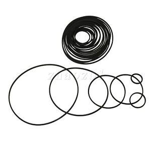 20 x Black Cassette Tape Machine Recorder Rubber Belt Half-Fold Size 25-170mm