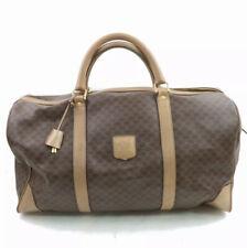 Celine Boston Bag  Browns Macadam PVC 816634