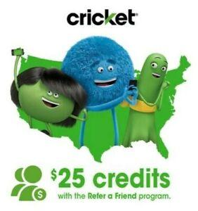 FREE Cricket Wireless Referral Code $25 Credit (Read Description- 8 left on 2/13