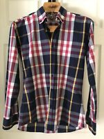 Burberry Men's Medium Check Shirt, Preowned in Excellent Condition, FREE SHIP