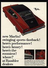 1965 RAMBLER MARLIN Fastback Red Muscle Car - American Motor Company VINTAGE AD