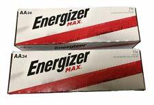 Energizer Max E91-VP AA  Alkaline Batteries 24 pack X 2(48 batteries)Exp.12/2029