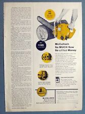 Original Dated1954 McCulloch Chain Saw Ad  MODEL 33 SO MUCH SAW, SO LITTLE MONEY