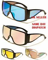Shield Mirrored Oversized Pilot Designer Mens Womens Sunglasses 100%UV400 6361