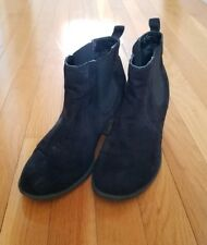 Diba Black Heeled Ankle Boot Womens Size 8.5