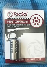 Tactical Solutions X-Ring 10/22 Muzzle Brake Compensator 1/2x28 1022 Silver