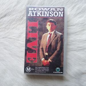 ROWAN ATKINSON LIVE VHS Video Tape COMEDY Concert Film MR. BEAN British Comic