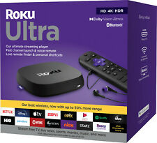 Roku - Ultra (2020) 4K/Dolby Vision Streaming Media Player with Voice Remote