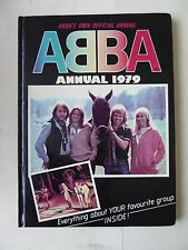 Abba Official Annual 1979 with Abba Super Trouper Vintage Cloth Patch