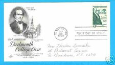 Dartmouth College NH 1969 6 Cent FDC Daniel Webster pic