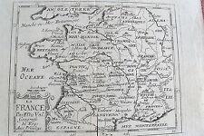 21d3-17 Gravure 16e La France par P. Du Val geografe du Roy