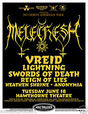 MELECHESH / VREID / LIGHTNING /SWORDS OF DEATH 2013 PORTLAND CONCERT TOUR POSTER