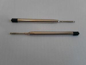 2 x Parker Compatible Quality Ballpoint Refills - Medium - Black