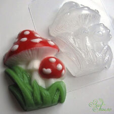 """Amanita mushrooms"" plastic soap mold soap making mold mould"