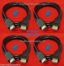 4X 9' ft HDMI Cable M-M 1080P 4K Ultra HDTV BLURAY DVD XBOX PS3 Wire Cord VWLTW