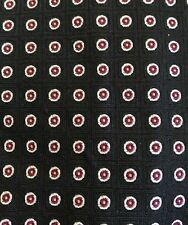 Mens Polo Ralph Lauren Black with Circles Silk Tie Made In Italy