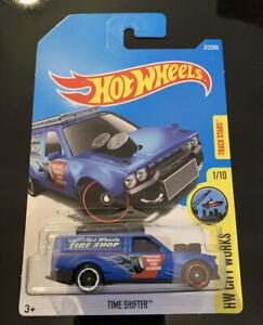 Hot Wheels 2017 Time Shifter Matt Blue #312 HW City Works 1/10 Long Card