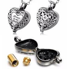Always In My Heart Cremation Jewelry Pendant Keepsake Memorial Urn Necklace Surp