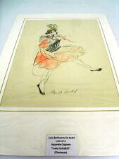 GUILBERT Yvette (1865-1944) ACTRICE FRANÇAISE-AQUARELLE PAR BERTHOMME St-A  (D)