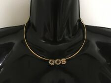 QOS Solid Neck Band Necklace Jewellery Jewelry Queen Of Spades BBC Slut - Gold