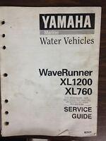Yamaha WaveRunner XL1200 XL760 Service Guide