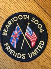 Rare 2006 BEARTOOTH Highway Motorcycle Run - Friends United UK & USA Flags PATCH