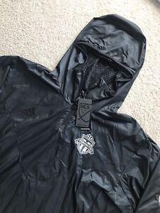 🔥$80 NWT ADIDAS TORONTO FC MLS TAN ADVANTAGE PISTE HOODIE JACKET MENS XXL BLACK