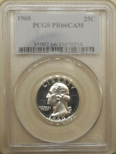 1960 PCGS PR-66-CAM Washington quarter GEM proof silver BLAST WHITE cameo