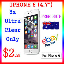 "8x LCD HQ Ultra Clear Screen Film Display Protector Apple Guard iphone6 4.7"" Au"