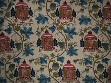 "Lee Jofa ""Summerhouse Crewel"" romantic fabric by the yard color Tuscany"