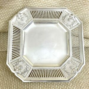 Antique Christofle Silver Plated Dessert Cake Stand Tazza Table Centrepiece Tray