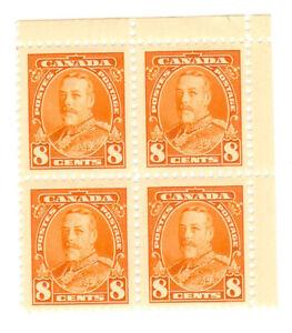 CANADA - 1930 - Block of 4x - 8c orange - Mint MNH - Scott172