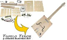 """The """"Tupelo Tenor"""" 4-string Box Guitar Kit - Easy to Build, Great Acoustic Tone"""