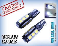 2x Canbus SMD 5050 T10 13 LED Car Bulb Interior ERROR FREE Light White SIDE