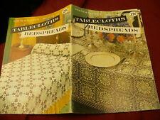 Bedspread tablecloth Coats & Clarke crochet cotton book No 120 craft pattern