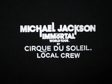 MICHAEL JACKSON IMMORTAL CIRQUE DU SOLEIL T SHIRT Concert Tour LOCAL CREW XL