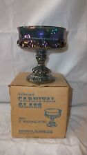 """Iridescent Colored Carnival Glass 5"""" Wedding Bowl Goblet Dish"""