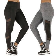 Fashion Women Gauze Pocket Elastic Exercise Fitness Sports Running Yoga Pants