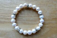 Freshwater Pearl and Diamante Bracelet