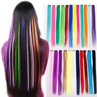 "33 Style Fashion Wig 1 Streak 22"" Clip in Hair Extensions choose colors"