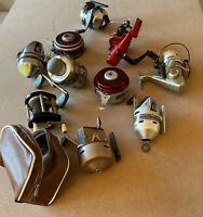 Nice Lot Of 10 Bait Cast, Fly, And Spinning Fishing Reels Good Working Condition