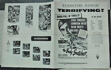 BODY SNATCHER 1952rr press bk.         karloff