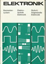 "01 012 DDR Experimentierkasten Polytronic Elektronik 6 ""Anleitung ..."